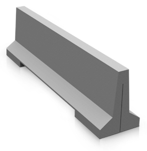 Model VB-8 | Precast Concrete Jersey Barrier