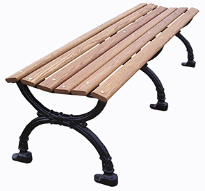 Model VBBP-60-W | Victorian Style | Backless Wood Park Benches