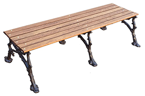 Model WBBP-60-W | Woodland Style | Backless Wood Park Bench