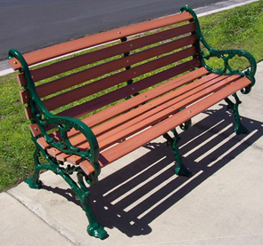 Model WBP-60-R | Woodland Recycled Plastic Park Bench