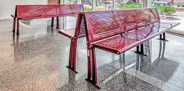 Wingra™ Collection Steel Park Benches