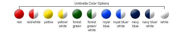 Umbrella Color Options