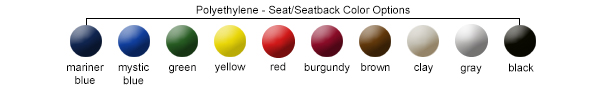 Seat/Seatback Color Options