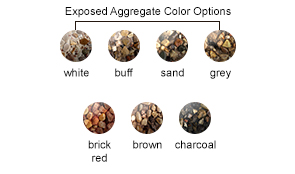 Exposed Aggregate Color Options
