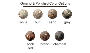 Ground and Polished Concrete Color Options