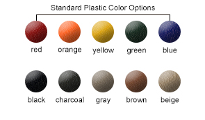 Standard Plastic Color Options