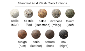 Standard Acid Wash Color Options