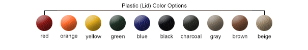 Standard Plastic (Lid) Color Options