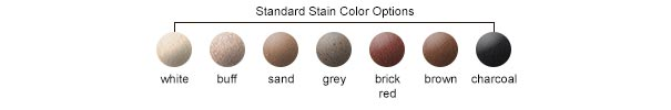 Standard Stain Color Options