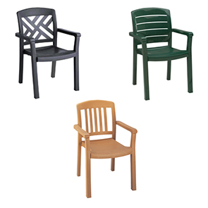 Classic Stacking Armchairs