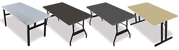 Quick Fold Aluminum Banquet Tables