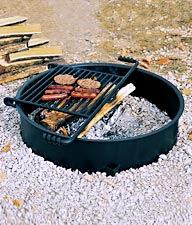 Universal Access Fire Ring with Flip-Back Grill Grate