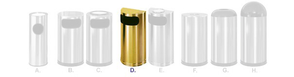 Satin Brass Stainless Steel Trash Receptacle Collection