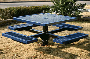 Model R46-I | Thermoplastic In-ground Square Table (Mariner/Black)