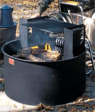 Universal Access Fire Ring with Adjustable Grate Park Grill
