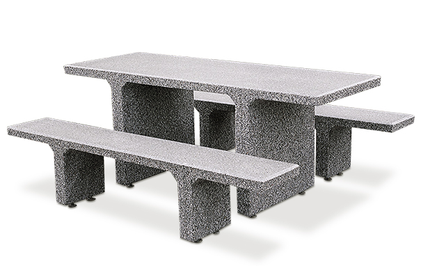 Fine Rectangular Concrete Picnic Table With Seperate Benches Forskolin Free Trial Chair Design Images Forskolin Free Trialorg