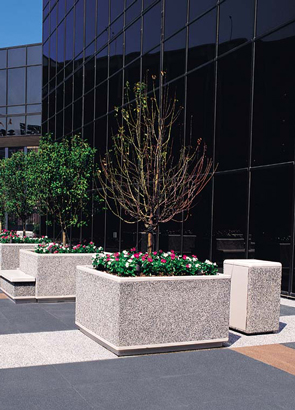Model TF4205 | Precast Concrete Planters (Gray)